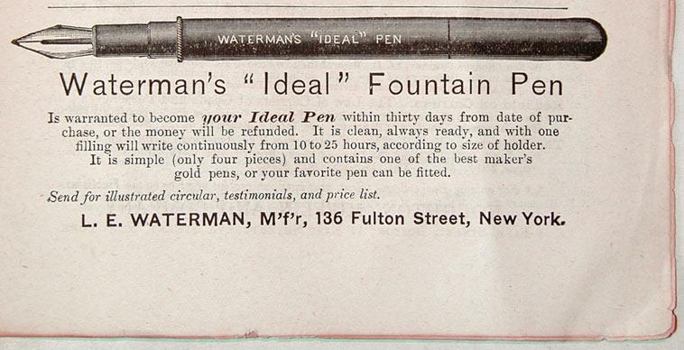 http://www.vintagepens.com/images/perm/1883_Waterman_ad.jpg