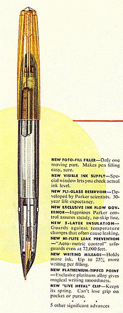 Parker 51 Aerometric advertisement